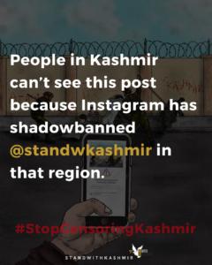 Digital censorship of Kashmir